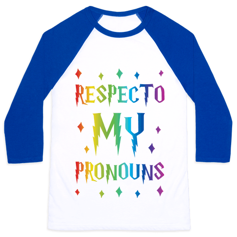 Respecto My Pronouns Baseball Tee