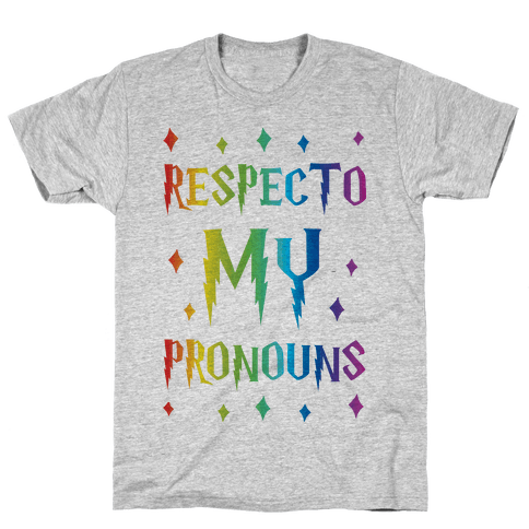 Respecto My Pronouns Mens T-Shirt