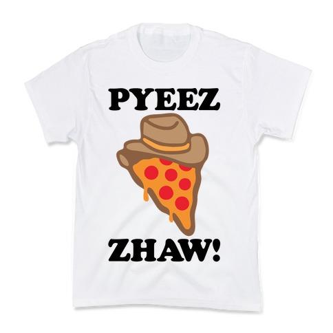 Pyeezzhaw Pizza Cowboy Parody Kids T-Shirt