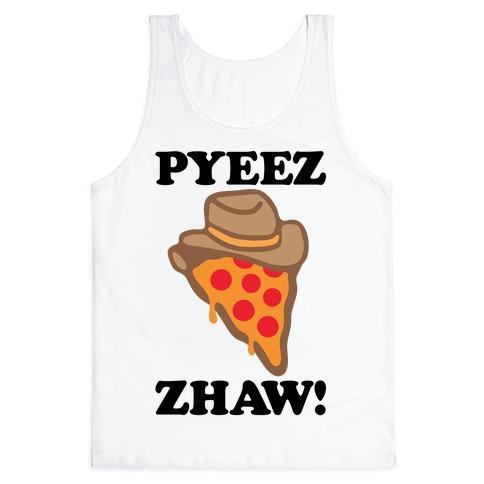 Pyeezzhaw Pizza Cowboy Parody Tank Top