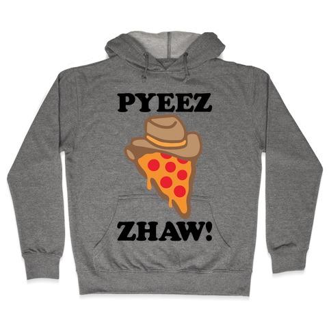 Pyeezzhaw Pizza Cowboy Parody Hooded Sweatshirt