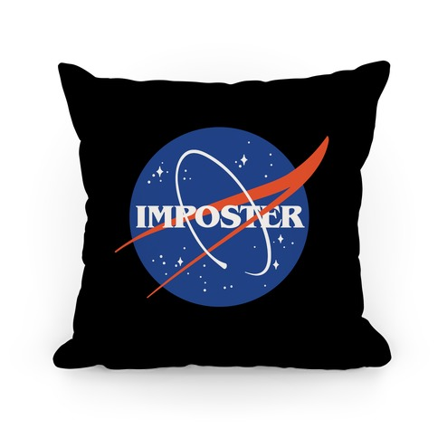 Imposter Nasa Logo Parody Pillow