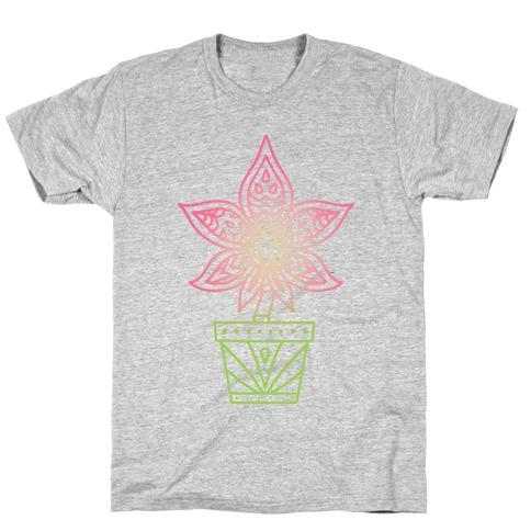 Mandala Weed Flower T-Shirt