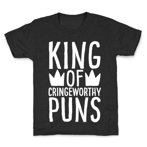 King of Cringeworthy Jokes White Print Kids T-Shirt