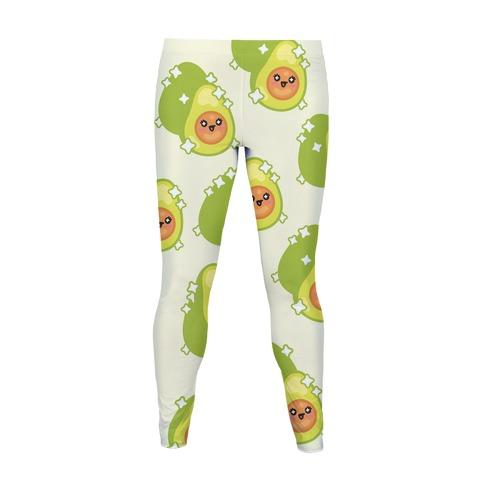 Kawaii Avocado Pattern Women's Legging