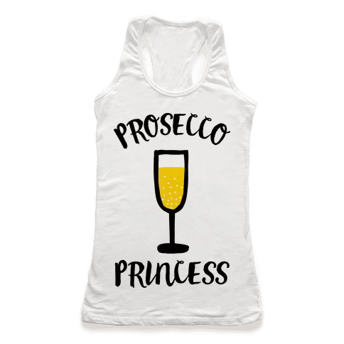 Prosecco Princess Racerback Tank Top