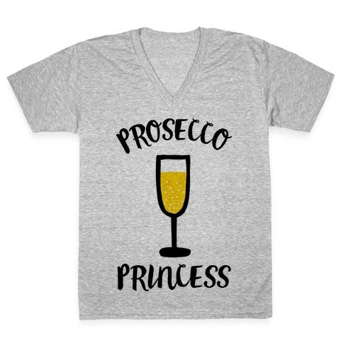 Prosecco Princess V-Neck Tee Shirt