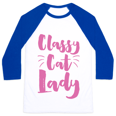 Classy Cat Lady Baseball Tee
