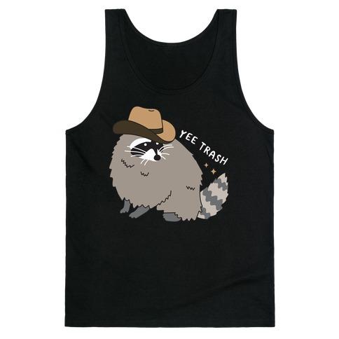 Yee Trash Cowboy Raccoon Tank Top