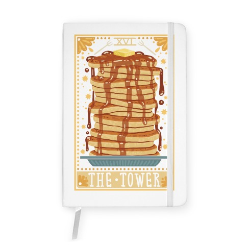 Tarot Card: The Tower (Of Pancakes) Notebook