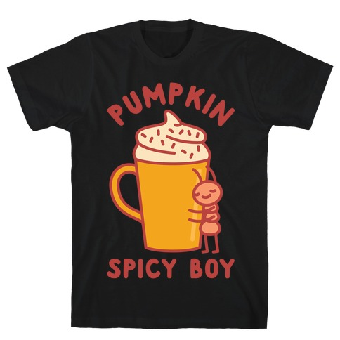 Pumpkin Spicy Boy wht T-Shirt