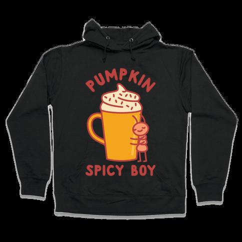 Pumpkin Spicy Boy wht Hooded Sweatshirt