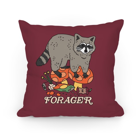 Forager Raccoon Pillow