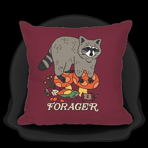 Forager Raccoon Pillow