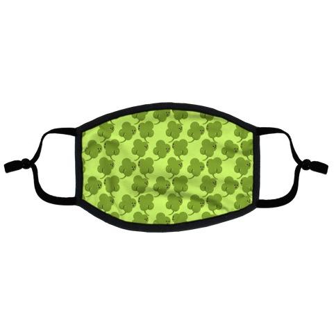 ShamButts Pattern Green Flat Face Mask