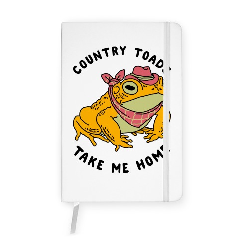 Country Toads Take Me Home Notebook