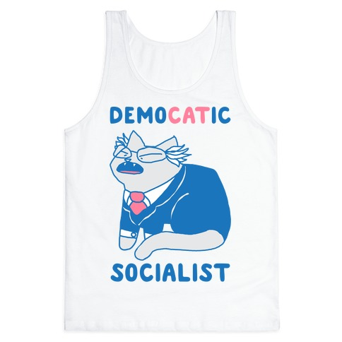 DemoCATic Socialist Tank Top