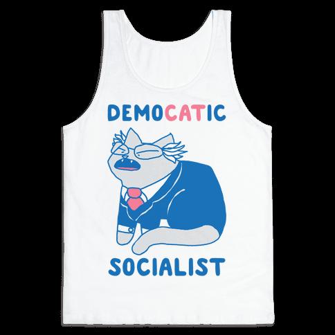 DemoCATic Socialist Tank Top