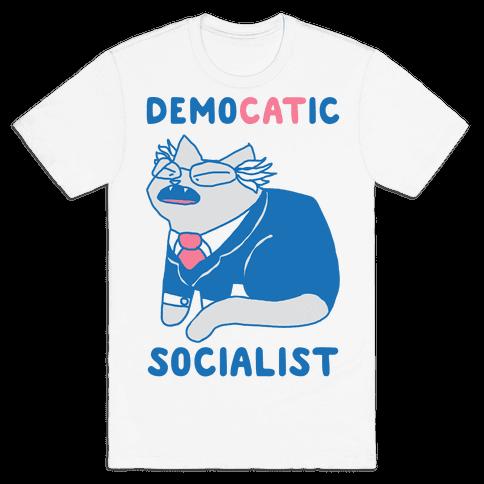 DemoCATic Socialist Mens/Unisex T-Shirt