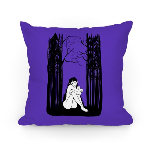 Forest Nymph (purple) Pillow