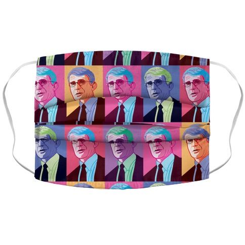 Anthony Fauci Pop Art Accordion Face Mask