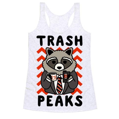 Trash Peaks Raccoon Racerback Tank Top