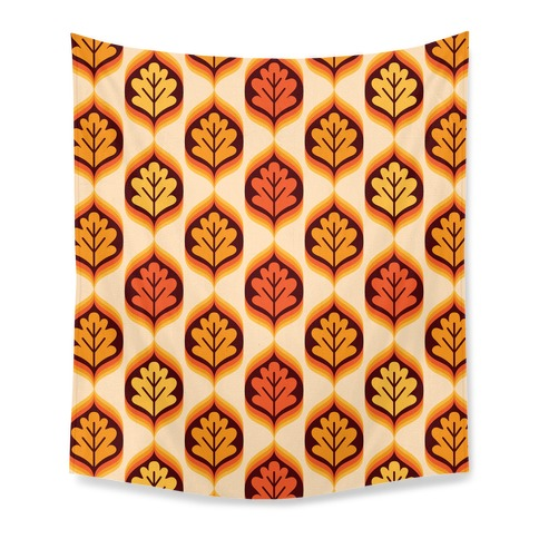 Vintage Autumn Leaves Pattern Tapestry