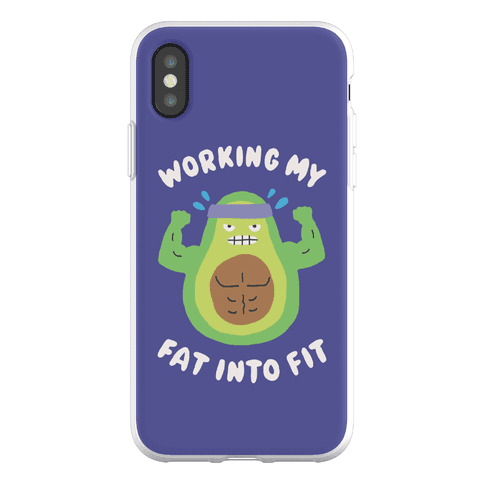 Working My Fat Into Fit Phone Flexi-Case