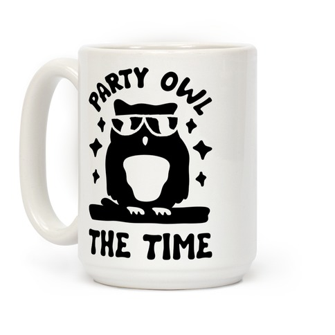 Party Owl The Time Coffee Mug