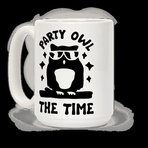 Party Owl The Time Coffee Mug