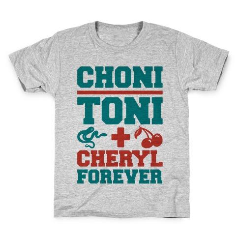 Choni Toni Plus Cheryl Forever Parody Kids T-Shirt