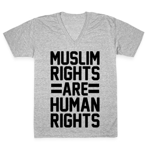 Muslim Rights Are Human Rights V-Neck Tee Shirt
