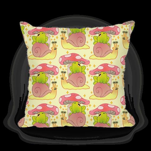Cute Snail & Frog Pillow