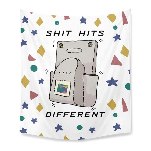 Shit Hits Different (Rumble Pack) Tapestry