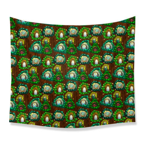 Fairy Cottage Doors Pattern Tapestry