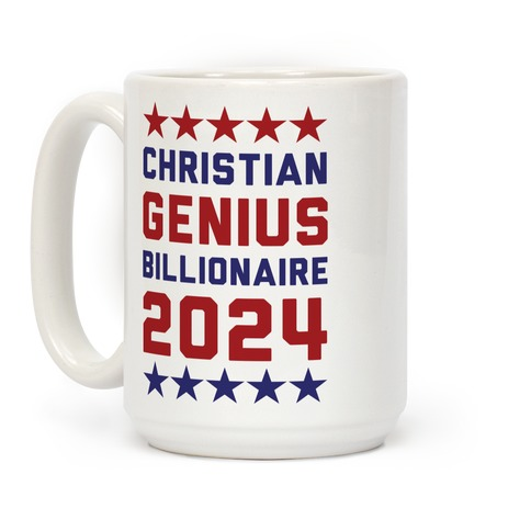 Christian Genius Billionaire 2024 Coffee Mug