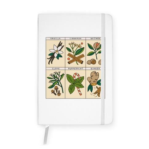 Holiday Spice Botanicals Notebook
