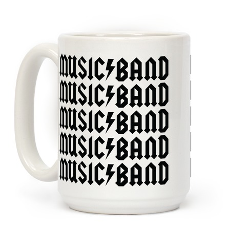 Music Band Rock Shirt Parody Coffee Mug