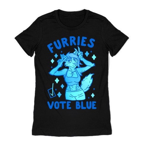 Furries Vote Blue Womens T-Shirt