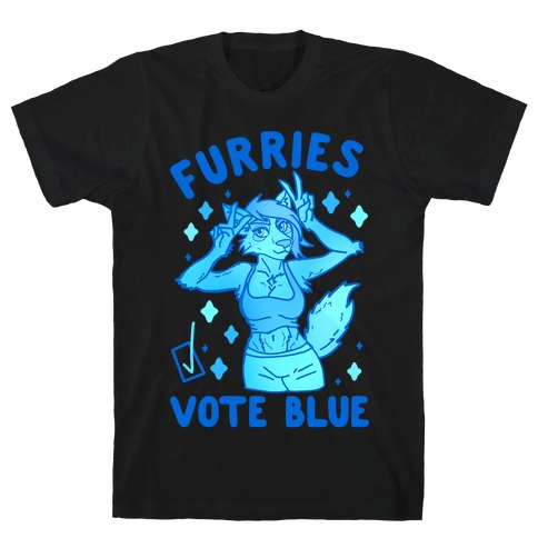 Furries Vote Blue T-Shirt