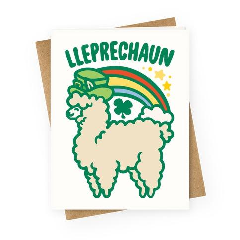 Lleprechaun Parody Greeting Card
