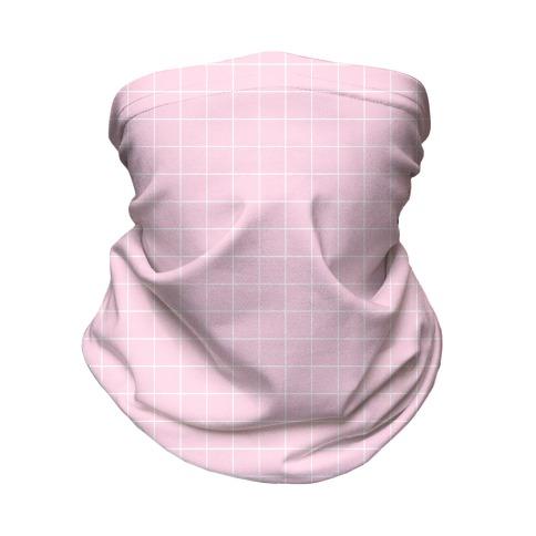 Pink Grid Neck Gaiter