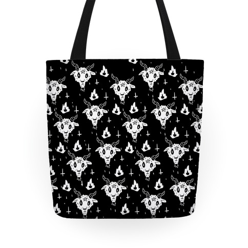 Spicy Heck Boy Satan Pattern Tote