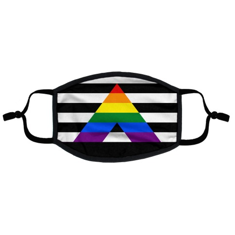 Ally Pride Flag Flat Face Mask