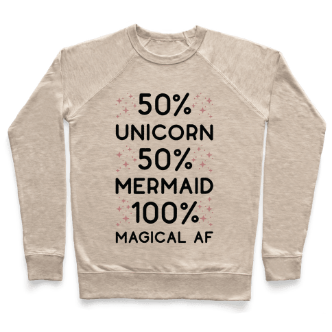 50% Unicorn 50% Mermaid Pullover