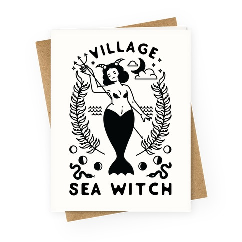 Village Sea Witch Greeting Card