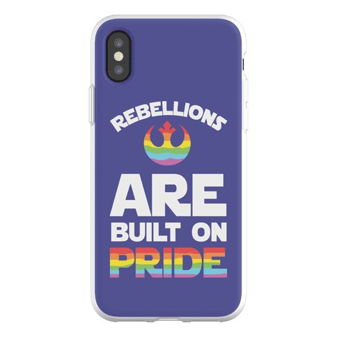 Rebellions Are Built On Pride Phone Flexi-Case