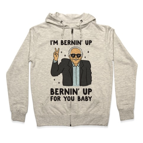 Bernin' Up For You Baby Zip Hoodie