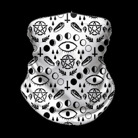 Occult Pixel Pattern Neck Gaiter