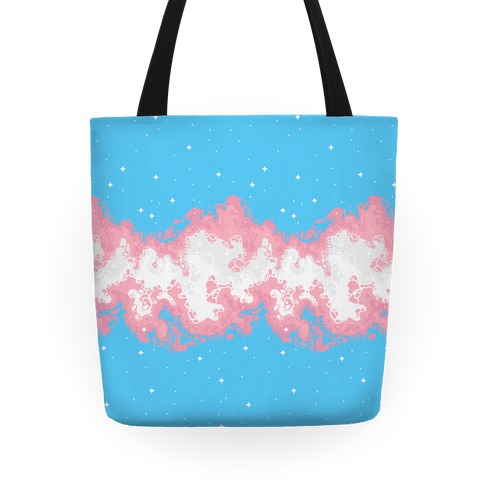 Psychedelic Nebula Trans Flag Tote